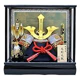 京寿 五月人形 兜飾り ケース入り 間口43×奥行30×高さ41cm 12号毛利兜ケース飾り YN50123GKC 毛利元就 三本の矢