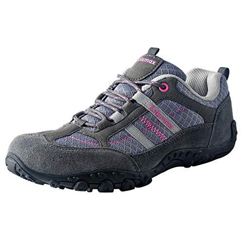 Knixmax Zapatillas de Trekking para Mujer, Gris EU 37