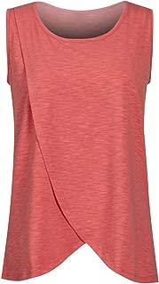 Wiwsi Summer Loose Maternity Clothes Breastfeeding T-Shirts Blouse Nursing Tops