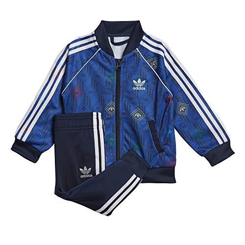 adidas SST Set, Tuta Unisex Bimbi, Top:Team Royal Blue/Collegiate Navy/Multicolor/White Bottom:Collegiate Navy/White, 2-3Y