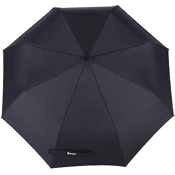Glamore 折りたたみ傘 自動開閉 ワンタッチ 8本骨 軽量 コンパクト メンズ レディース 晴雨兼用 傘 超撥水 100cm 黒