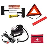 1 Sets set de emergencia para automóviles Configuración de seguridad profesional para vehículos al aire libre Triángulo del automóvil Señal de advertencia de emergencia Kit de primeros auxilios