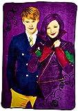 Disney Descendants Welcome to Auradon Micro Raschel Blanket, 62' x 90'