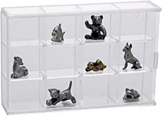 SAFE Acrylic Glass Display Case for Rocks, Minerals, Thimbles & Figurines-12 Compartments