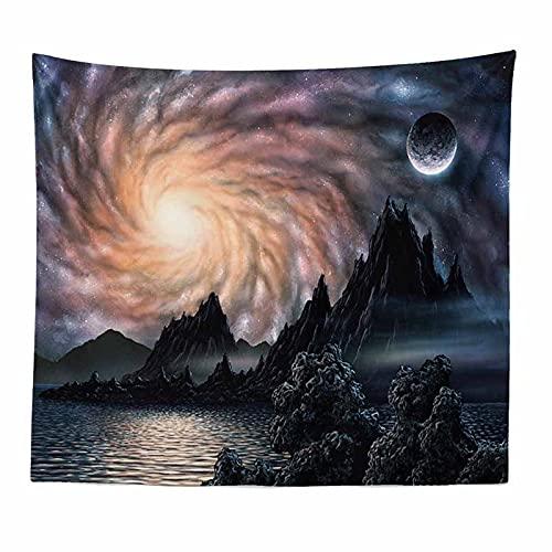 Weltraum Tapisserie Wandhalterung Mond Hippie Tapisserie Spitze Wandtuch Tapisserie Traum Wandteppich Decke Hängetuch A1 180x230cm