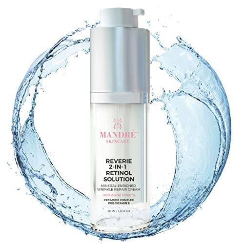 Mandré Retinol Cream Face Moisturizer with Vitamin E, A, & Anti Aging Plant Minerals to Reduce Wrinkles & Fine Lines