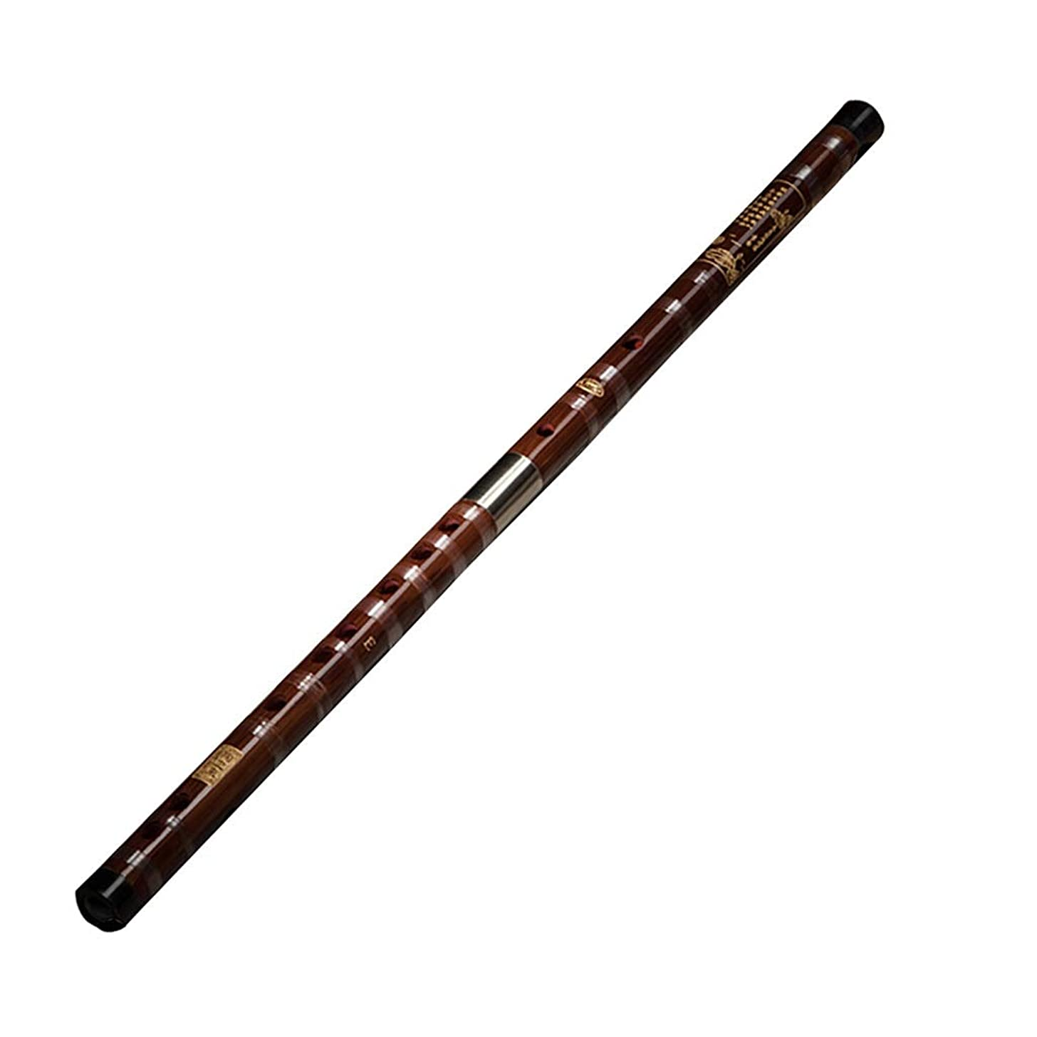 Bamboo flute Musical Instrument Flute Gift Beginners Flute Professional Solo Performance Flute CDEFG Five Tones Fife (Color : Red, Size : F key532.22.2cm)
