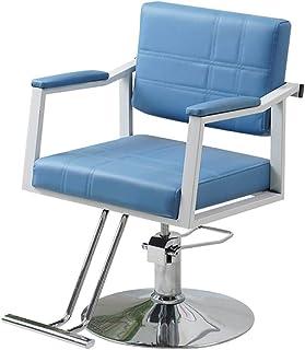 ZYF Silla de Oficina Giratoria Peluquería telesilla salón sillas Modernas Silla de Peluquero Pelo Altura Ajustable fácil de Limpiar Escritorio Ergonómica (Color : Blue)
