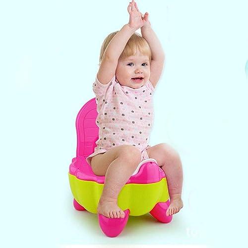 Edelehu Siège De Toilette Multi-Fonctionnel pour Enfants Pot De Toilette Non-Glissant avec Siège De Toilette Splash