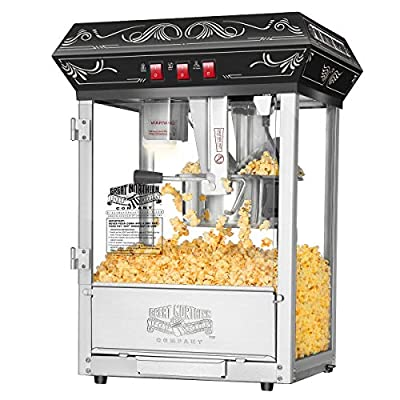 5800 Great Northern Popcorn Black Good Time Popcorn Popper Machine, 8 Ounce