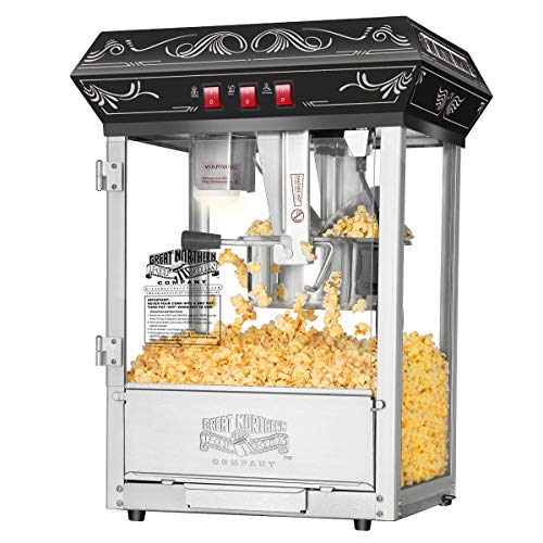 Best Deals! 5800 Great Northern Popcorn Black Good Time Popcorn Popper Machine, 8 Ounce