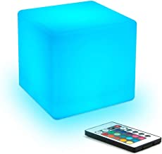 LED Night Light Children's Mood Lighting Cube with Remote Control 16 Kinds of Adjustable RGB Color 4 Kinds of Colorful Gra...