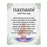 Namaste Color'We Are One'- Inspirational Wall Art in Yoga Pose-8 x 10 Print Wall Art Ready to Frame. Home Décor, Office Décor & Wall Print. Motivational Quote- Perfect Gift to Share Your Beliefs.