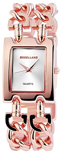 GRAMM medical Excellanc 1518 Damen Armbanduhr Farbe roségold mit Metall Kettenarmband