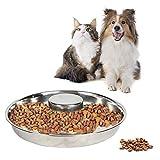 Cuenco para Perros de Metal de Acero Inoxidable, Cuenco para Perros de Aalimentación Lenta, Cuenco para Perros de Acero Inoxidable de Alimentación Lenta