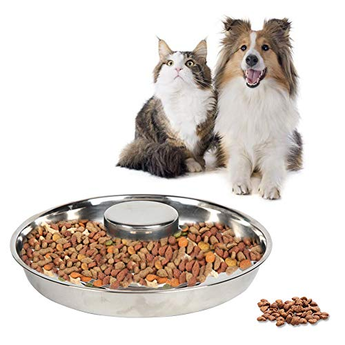 YUIP Ciotola per Cani in Acciaio, Ciotola per Cani in Acciaio Inossidabile ad Alimentazione Lenta Ciotole per Cani a Lenta Alimentazione Ciotole per Cani di Piccola Taglia