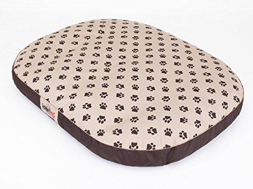 Hobbydog OVAL MOWBEZ7 XXL Hundebett Ruheplatz Hundematratze Hundekissen Hundematte Schlafplatz (4 Verschiedene Größen) (XXL (130 x 100 cm))