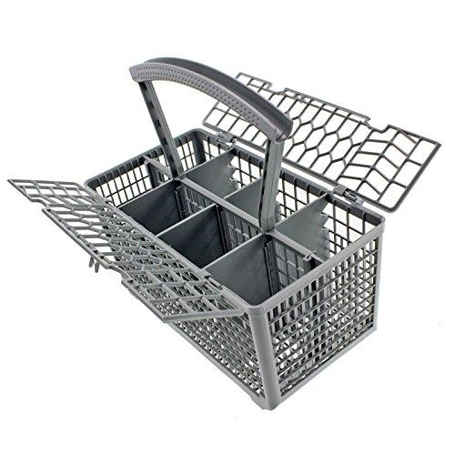 SPARES2GO Universal Lavavajillas Cubiertos Tapa de Cesto Cage y Mango Desmontable (235 x 242 x 130)