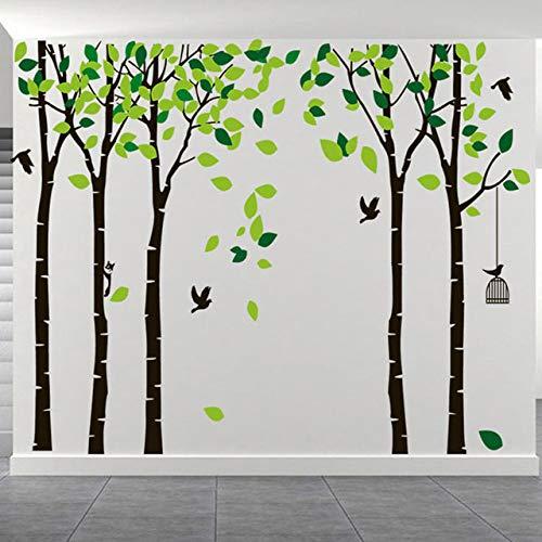 XINSHENGKEJI grote grootte boom PVC decoratie thuis 3D muursticker DIY kunst TV achtergrond behang decoratie thuis slaapkamer woonkamer muursticker 264 x 180 cm