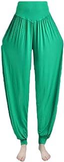 Ptyhk RG Women Micro Modal Plus-Size High Waist Active Lantern Yoga Capris Pants