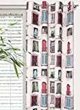 Splendid OKNA - Cortina de confección con Trabillas Ocultas, Impresa (140 x 245 cm)
