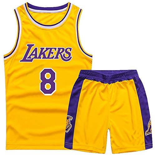 Gofei Kinder Basketball Weste und Shorts Lakers 8# Bryant Basketball Trikots Basketballuniform Basketball Anzug Basketballhemd Swingman Jerseys