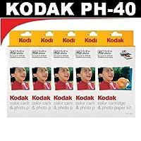 Kodak ph40カラーカートリッジ&フォト用紙キットfor Kodak EasyShareプリンタードック( 5パック)