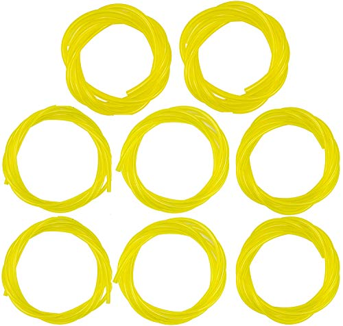 Nicunom 8 Pack 5 Feet 4 Sizes Fuel Line Hose Tube I.D. x O.D.080' x .140' 1/8' x 1/4' 1/8' x 3/16' 3/32' x 3/16' for Poulan Craftman Chainsaw String Trimmer Blower