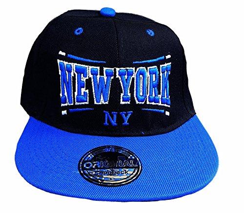 BASECAP NEW YORK NY FITTET BASE CAP SNAP BACK STARTER HAT HIP HOP SCHIRM-MÜTZE (Cap 13 Schwarz Blau)