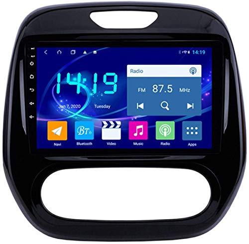 AEBDF Android 9.1 Navegación estéreo para automóvil para Renault Captur 2011-2016.9 Pulgadas Sat Nav Pantalla táctil Bluetooth Player Multimedia con Enlace de Espejo,4Core WiFi+4G 2+32G