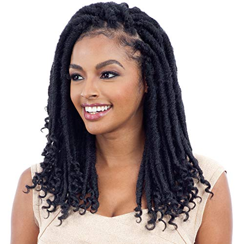 MULTI PACK DEALS! FreeTress Synthetic Hair Crochet Braids 2X Cuban Gorgeous Loc 12' (Goddess Loc) (1-PACK, 613)