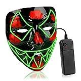 🎃【Il design della maschera di Halloween è stato ispirato da Venom.】Le luci a LED sono intrecciate nella maschera che è fatta da una plastica acrilica opaca che consente alla maschera di durare più a lungo e di essere più durevole. E non è costituita ...