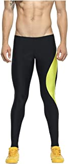 waitFOR Men Slim Fit High Waist Quick Drying Leggings Stretch Tummy Control Yoga Trousers for Men Gym Sports Fitness Pants...