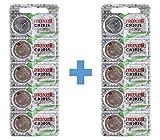 Maxell CR2025 - Pilas de botón (Litio, 3 V, 2 Paquetes de 5 Unidades)