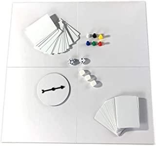 DIY Board Game Studio - Do-It-Yourself Kit with Blank Double-Sided Board, Cards, and Dice - Design and Prototype Your Own Games