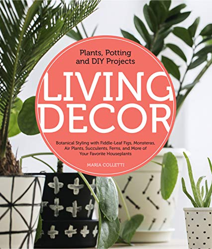 Living Decor: Plants, Potting and DIY Projects - Botanical Styling with Fiddle-Leaf Figs, Monsteras, Air Plants, Succulents, Ferns, and More of Your Favorite Houseplants (English Edition) ⭐