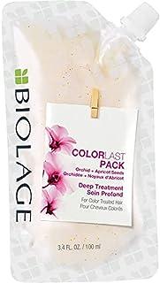 ماسک مو چند منظوره BIOLAGE ColorLast Deep Mask ماسک موهای چند منظوره با بذر ارکیده و زردآلو برای موهای درمان شده با رنگ ، 3.4 fl. اوز