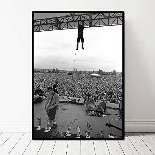 TELEGLO (No Frame) 50 * 70cm Pearl Jam Foto Poster Kunst Leinwand Kunstdruck Wandbilder für Wohnzimmer