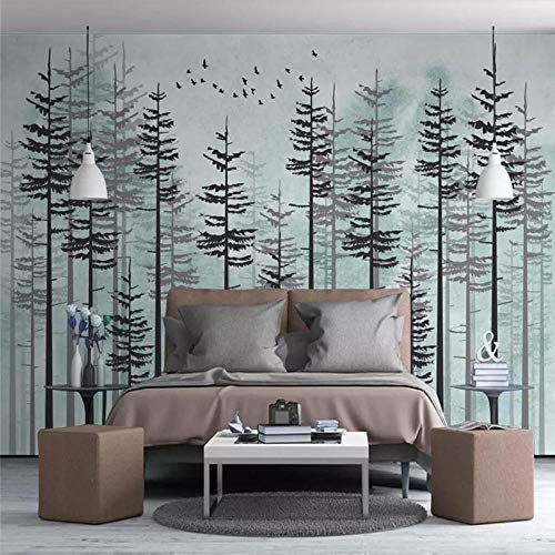 ZJfong 3D Photo Wallpaper Klassieke Sieraden Plum Slaapbank Woonkamer TV Achtergrond Muur Home Decoratie 350 x 245 cm.