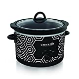 Crockpot Round Slow Cooker, 4.5 quart, Black & White Pattern (SCR450-HX)