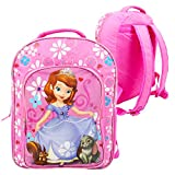 Disney Girls' Sofia The First Backpack with Super Lights, Pink, 16' X 12' X 5'