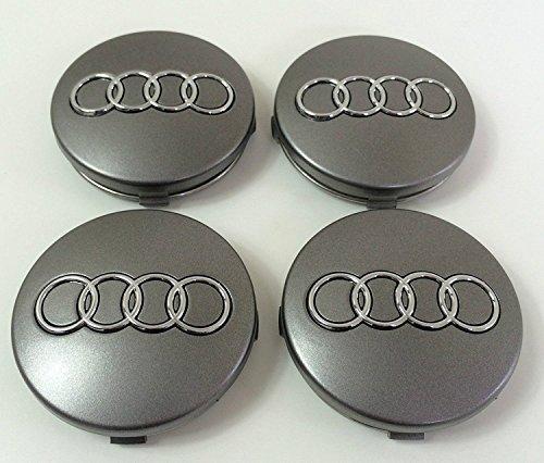 Car_Parts 4X Caps Nabendeckel Kompatibel für Audi, 60mm Durchmesser für Nieten Alufelgen, für A3 A4 A5 A7 A8 S4 S5 S3 Q3 Q5 Q7 TT A4L A6L S Linie Vier und Andere Modelle