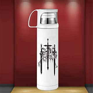 Stainless Steel Travel Insulated Mug with Lid Double Wall Vacuum Stainless Anime Coffee Cup Thermos Keeps Liquid Hot Or Cold Office Tea Water Bottle Best Gift for Women Men Boy Girl,A