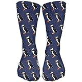 Calcetines unisex con diseño de pájaros de puffin para vestir al tobillo, se...