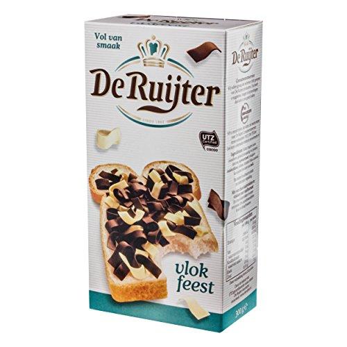 De Ruijter Schokoladen-Flocken, Schokolade, Streusel Mischung / Vlok Feest 300g