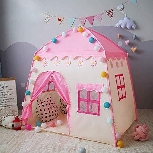 Tipi Girl Girl Play Tents para Niñas Y Muchachos, Juguete De Los Niños para Interior Y Outdoor Princess House Castillo Pink, Tienda De Niños Interior, Casa De Niños,Rosado