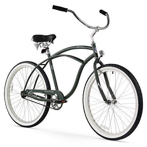 Firmstrong Urban Man Beach Cruiser Bike, Mens Bicycle 26-Inch, 1-Speed, Matte Army Green