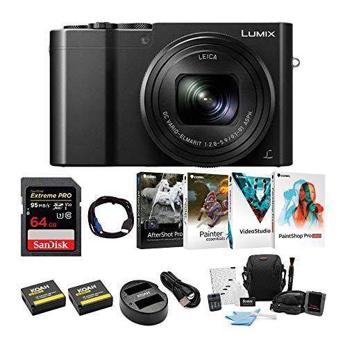 Panasonic LUMIX DMC-ZS100 Digital Camera Bundles (Premium Bundle, Black)