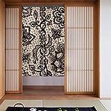 Generies Kitchens - Cortina de encaje con impresión de encaje para puerta de cocina, patio, puerta, cortina larga para decoración de puerta de casa, cocina, 86 x 143 cm