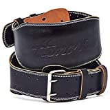 Hemori Weight Lifting Belt Small Size - Genuine Cowhide Leather Pro for Men and Women | Durable Comfortable & Adjustable with Buckle | Stabilizing Lower Back Support for Weightlifting